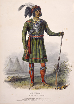 ASSEOLA, A SEMINOLE LEADER., from History of the Indian Tribes of North America