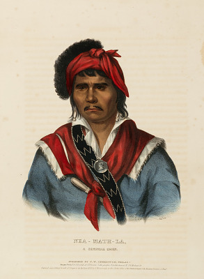 NEA-MATH-LA, A SEMINOLE CHIEF., from History of the Indian Tribes of North America
