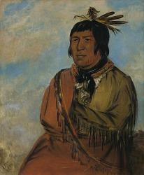 Na-pów-sa, Bear Traveling at Night, a Chief