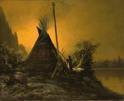 Night Scene of Indian Tipi