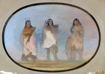 Little Bear, Steep Wind, The Dog; Three Distinguished Warriors of the Sioux Tribe