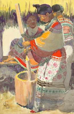 Women in Costume, Seminole Indians, Florida
