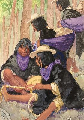 Costumed Group, Salasaca Indians, Ecuador