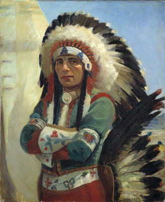 Cherokee Dancer (Portrait of Iron Eyes Cody)