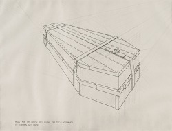 Plan for My Coffin with Extra One Tied Underneath to Contain Art Critic