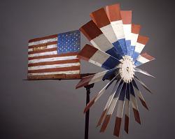 American Flag Whirligig