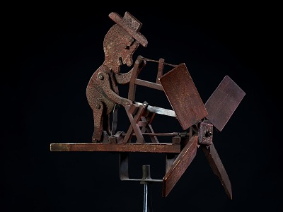 Whirligig with Man Sawing Wood