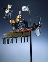 Whirligig with Witch and Horse