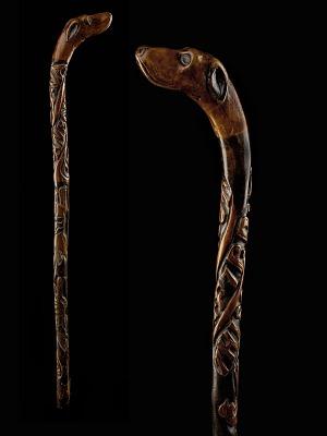 Cane inscribed THIS CANE CUT OFF 7 P. B. F. VA