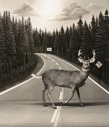 Diorama, Highway I-75, Gaylord, Michigan
