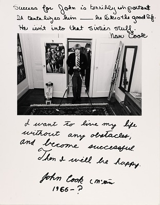 Untitled--Success for John is Terribly important. It tantalizes him--he likes the good life. He isn't into that sixties stuff. Nan Cook I want to live my life without any obstacles, and become successful. Then I will be happy. John Cook C Mc Gim 1966-? From the series Rich and Poor