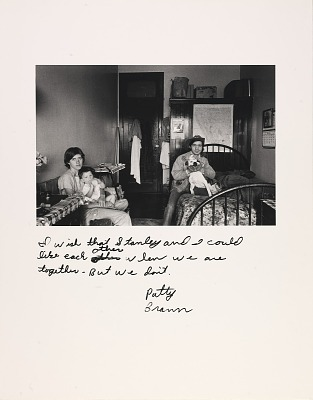 Untitled--I wish that Stanley and I could like each other when we are together--but we don't. Patty Braun, from the series Rich and Poor