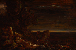 The Pilgrim of the World at the End of His Journey (study for the series, The Cross and the World)