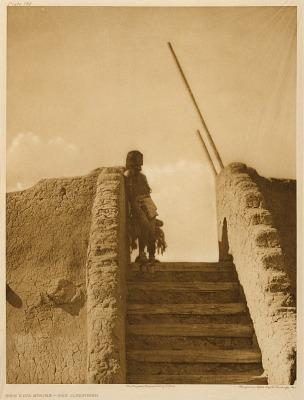 The Kiva Stairs--San Ildefonso
