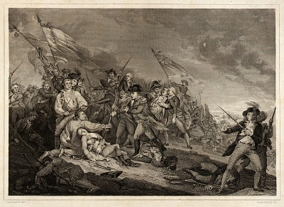 The Battle at Bunker's Hill near Boston
