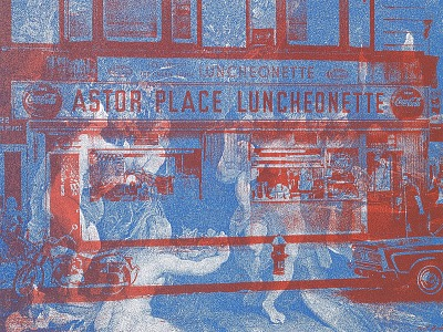 (Untitled--Astor Place Luncheonette/painting)