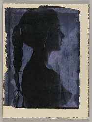 Untitled (bust-length female nude with braid)