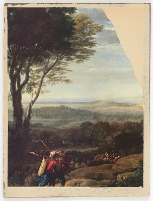 Untitled (unidentified painting of soldiers in landscape)