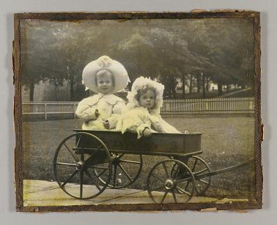 Untitled (Joseph Cornell and sister Elizabeth [Betty] in wagon)