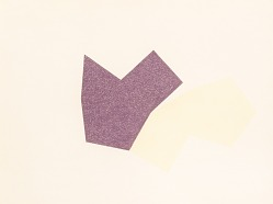 Two Shapes (Violet and Yellow)