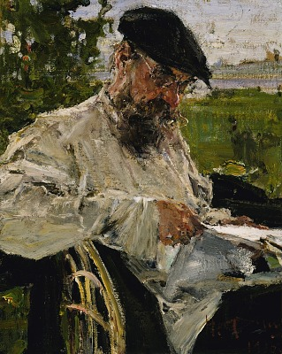 Reading the Newspaper, the Artist's Father