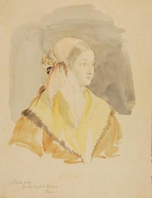 Greek Girl at the English Palace, Pera