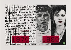 Ruben, Lou and Diane, from the National Chicano Screenprint Taller, 1988-1989