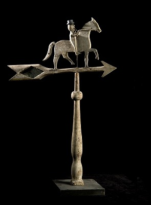 Rider on Prancing Horse Weathervane