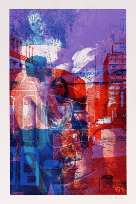(Untitled--painting/street scene)