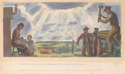 The Homestead and the Building of the Barbed Wire Fences (Mural Study for Interior Building, General Land Office, Washington, D.C.)