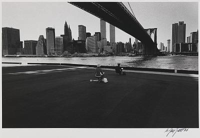 Two Artists Under the Brooklyn Bridge