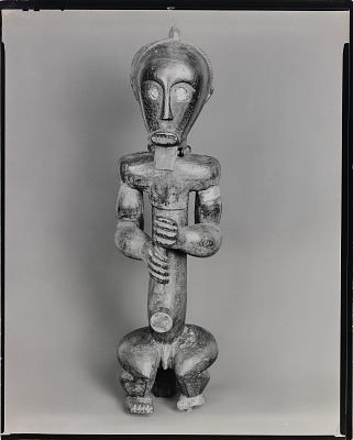 Ancestor figure. Wood. Southern French Cameroons, Border of Gabon, from the series African Sculpture