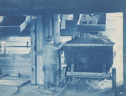 [Worker with Hopper Car]