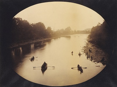 [View at Gervanda Looking Downstream from the Bridge]