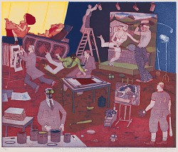 History of Printmaking Update: Leroy Neiman Pulls a Screenprint