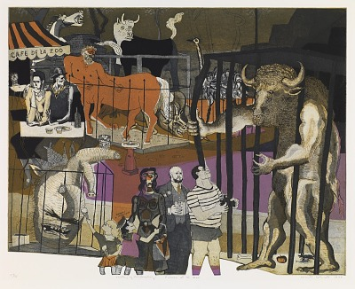 Picasso at the Zoo, from the series A History of Printmaking