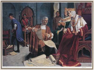 Christopher Columbus and Queen Isabella