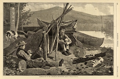 Camping Out in the Adirondack Mountains, from Harper's Weekly, November 7, 1874