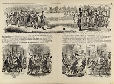 College Life in New England, from Harper's Weekly, August 1, 1857