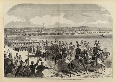 The Grand Review at Camp Massachusetts, Near Concord, September 9, 1859, from Harper's Weekly, September 24, 1859