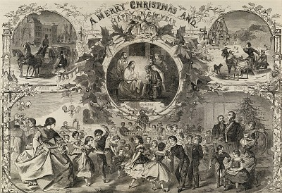 A Merry Christmas and Happy New Year, from Harper's Weekly, December 24, 1859