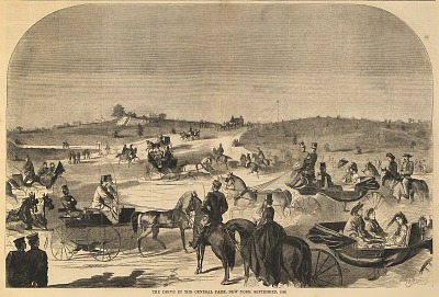The Drive in the Central Park, New York, September 1860, from Harper's Weekly, September 15, 1860