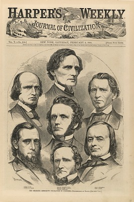 The Seceding Mississippi Delegation in Congress, from Harper's Weekly, February 2, 1861