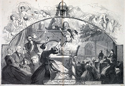 Seeing the Old Year Out, from Harper's Weekly, January 5, 1861