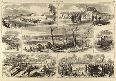 Our Army before Yorktown, Virginia, from Harper's Weekly, May 3, 1862