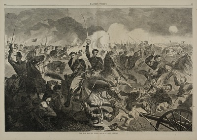 The War for the Union 1862--A Cavalry Charge, from Harper's Weekly, July 5, 1862