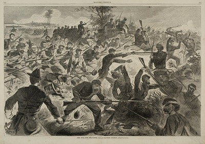 The War for the Union 1862--A Bayonet Charge, from Harper's Weekly, July 12, 1862