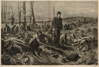 Army of the Potomac - Sleeping on their Arms, from Harper's Weekly, May 28, 1864