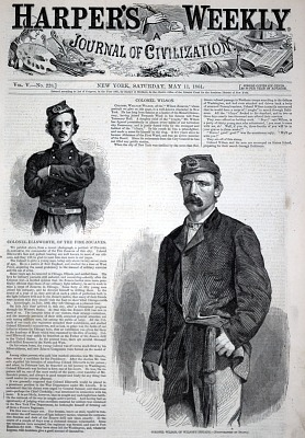 Colonel Wilson, of Wilson's Brigade, from Harper's Weekly, May 11, 1861