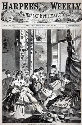 The War--Making Havelocks for the Volunteers, from Harper's Weekly, June 29, 1861